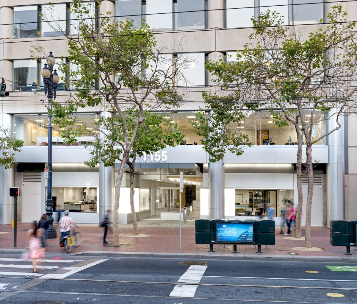 Repositioning Office Buildings for Curb Appeal: 1155 Market Street Lightens Up